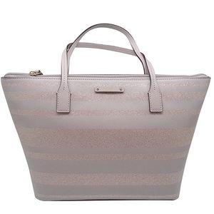 Kate Spade Shoulder Handbag Gray Glitter